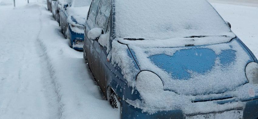 Эвакуация авто в снегопад