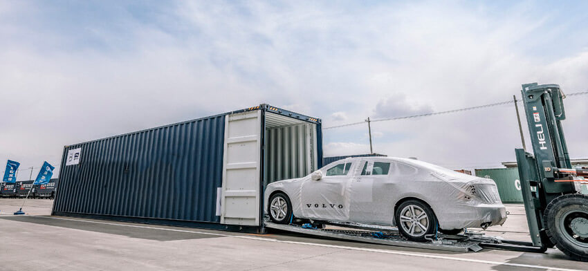 Новый способ транспортировки автомобилей в России